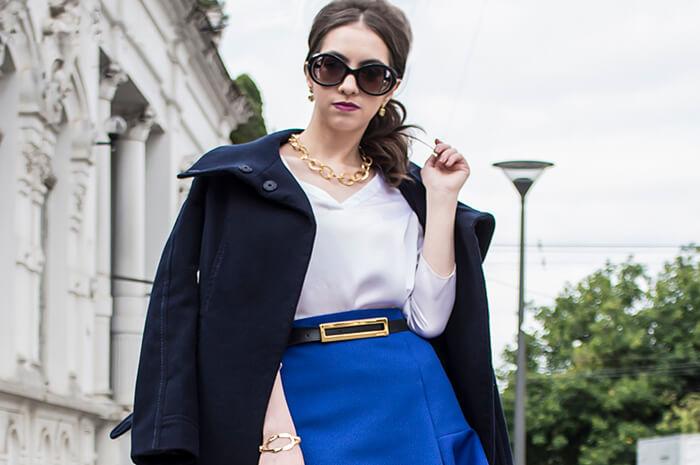 Look com casaco de lã
