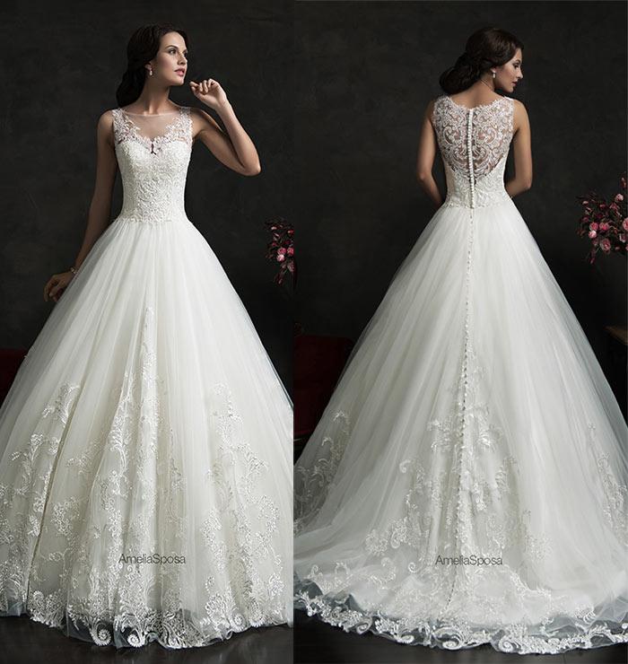 Vestido de noiva com saia princesa