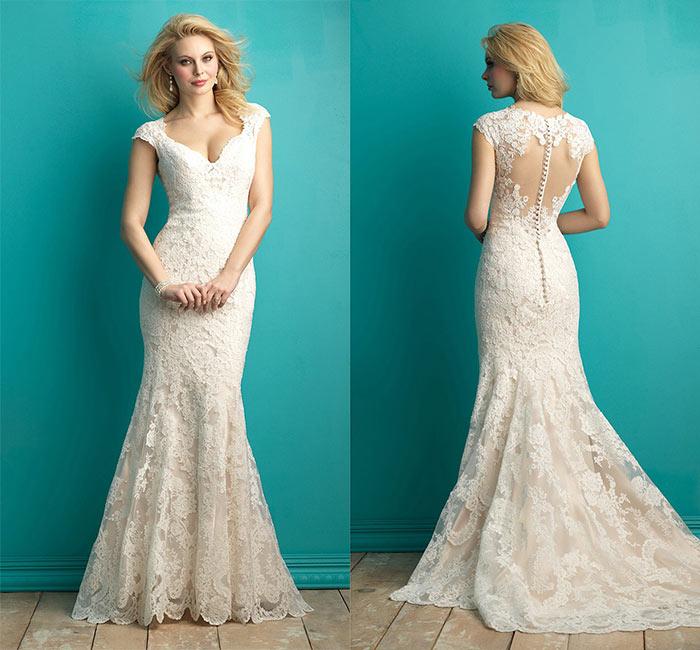 Vestido de noiva inteiro bordado