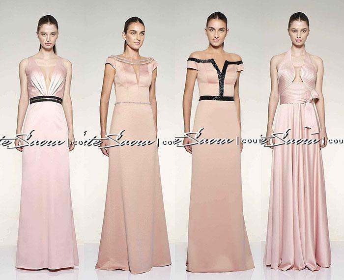 Vestidos de festa rosa claro Arte Sacra