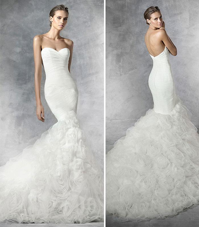Vestido de noiva sereia tomara-que-caia