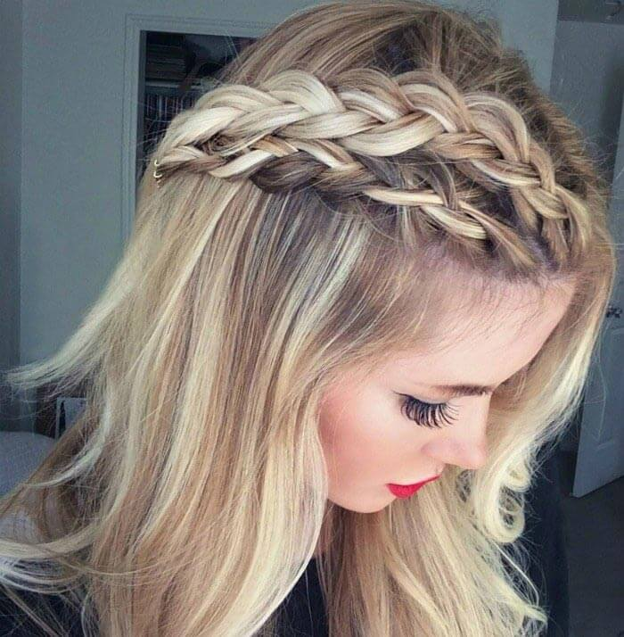 2 braids: braided hairstyle