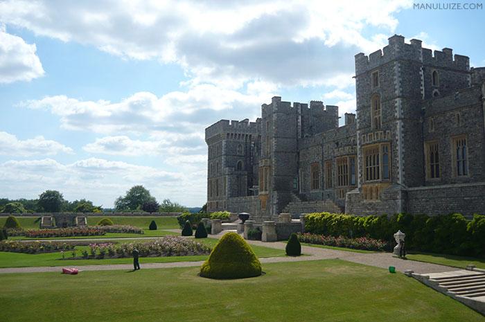 Castelo de Windsor na Inglaterra