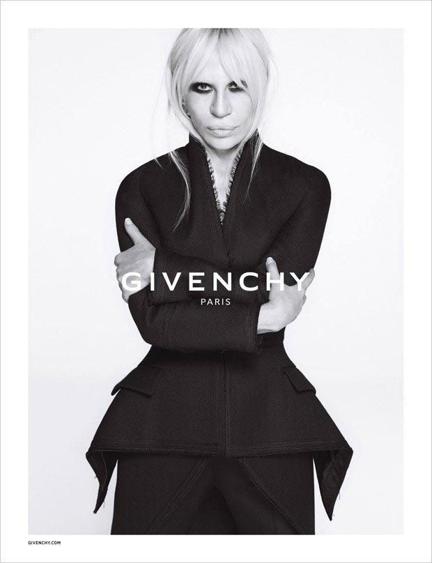 Donatella Versace para a campanha da Givenchy