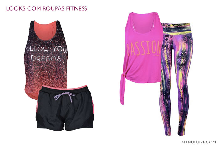 Looks com roupas fitness