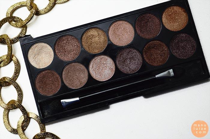 Paleta de sombras marrom MUA (Makeup Academy)