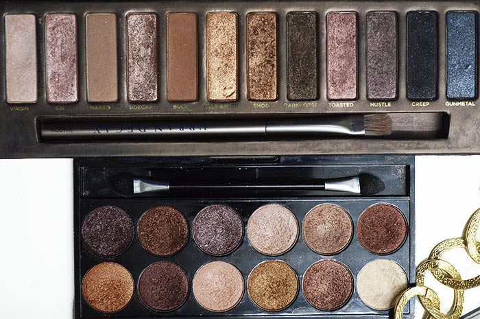 Comparativo Naked 1 e MUA Heaven and Earth