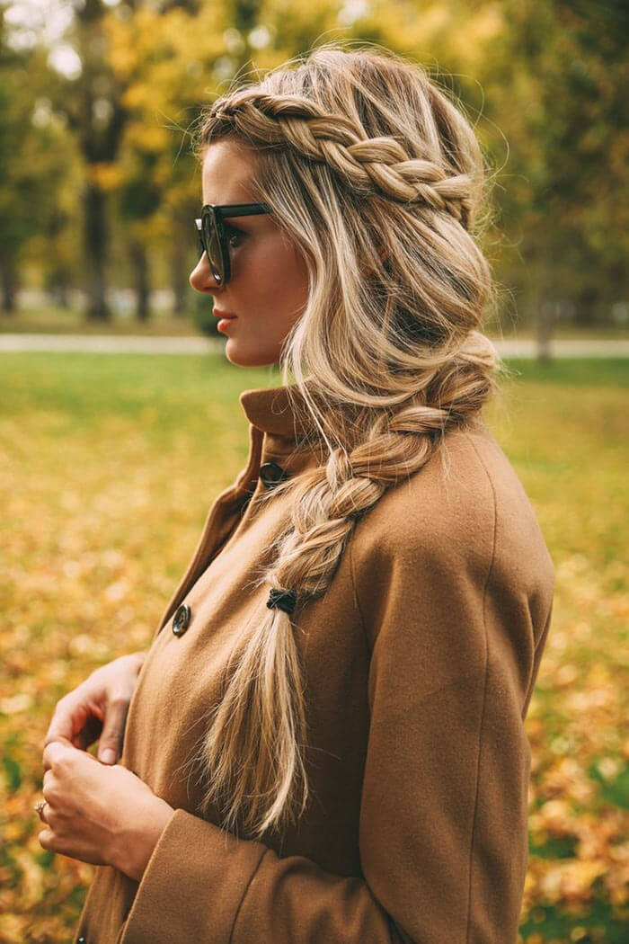 Braided hairstyle by Amber Fillerup