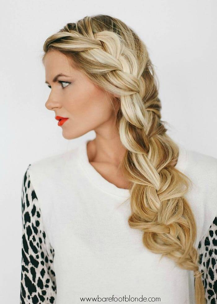 Braided hairstyle: Side braid