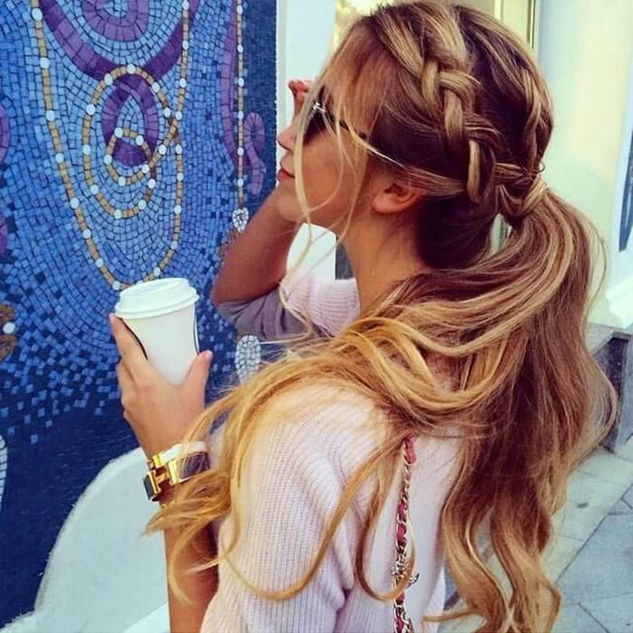 Braided Hairstyles: Pony tail
