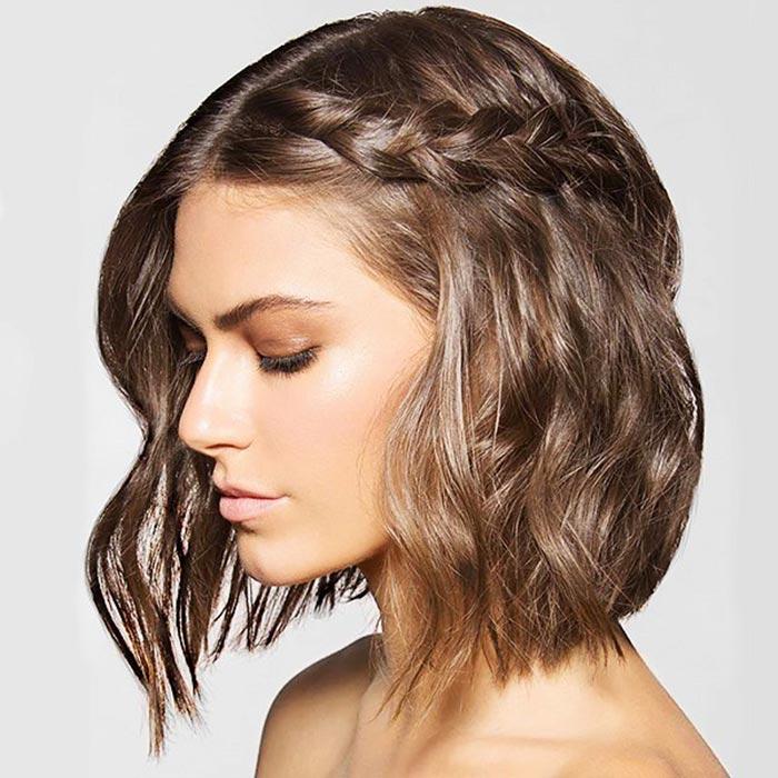 penteado para cabelo curto - trança