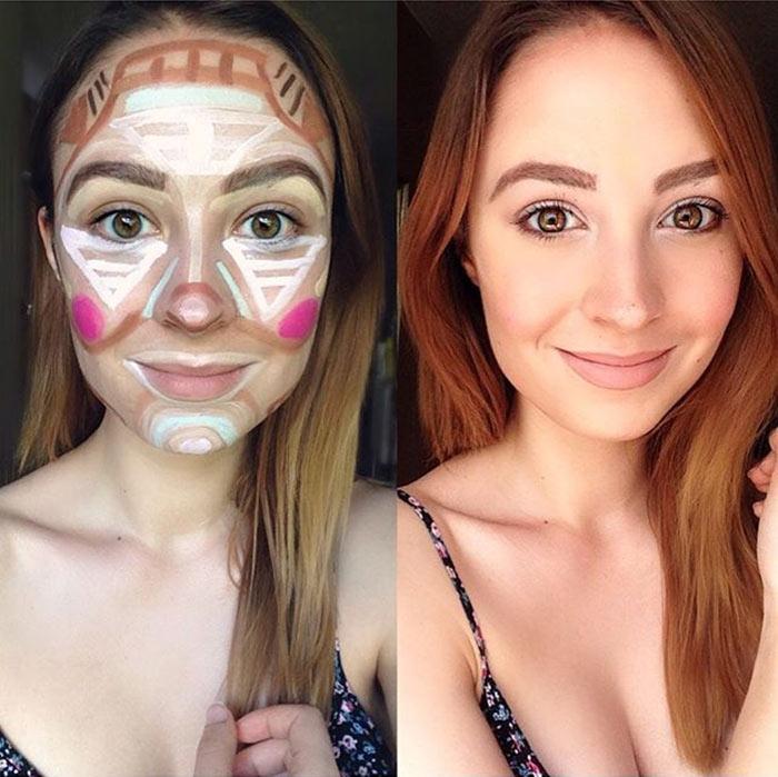 Contorno de Palhaço na maquiagem (Clown contouring)