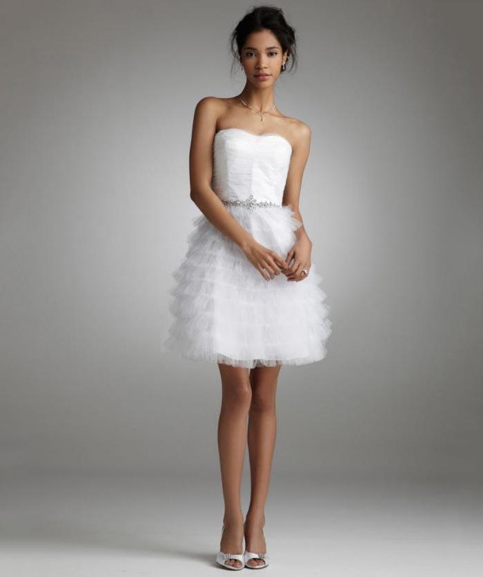 Vestido de noiva curto - saia com babados