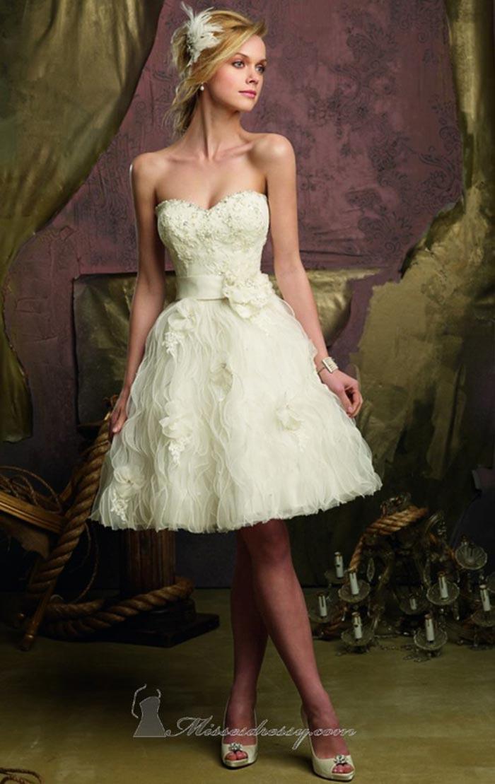 3e1201a728 Vestido de Noiva Curto  Como escolher