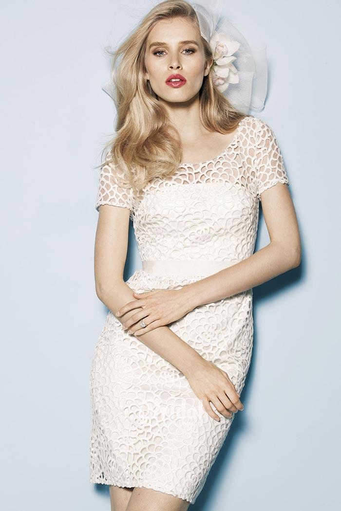 Vestido de noiva com manga curta