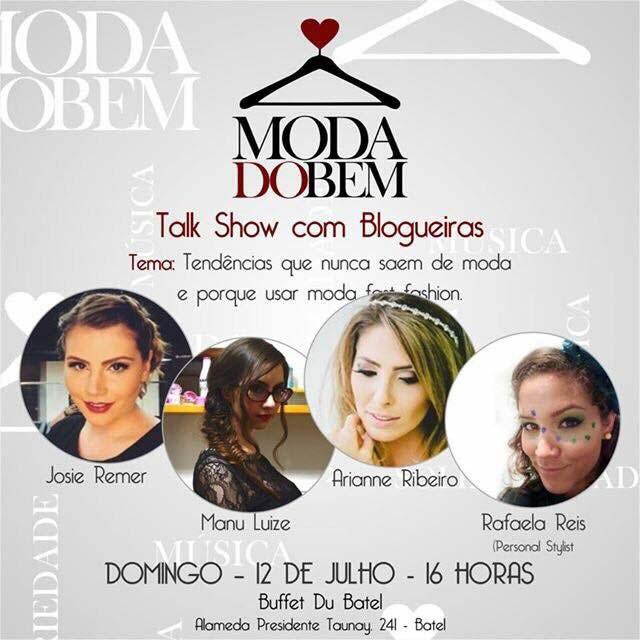 Talkshow no Bazar Moda do Bem em Curitiba