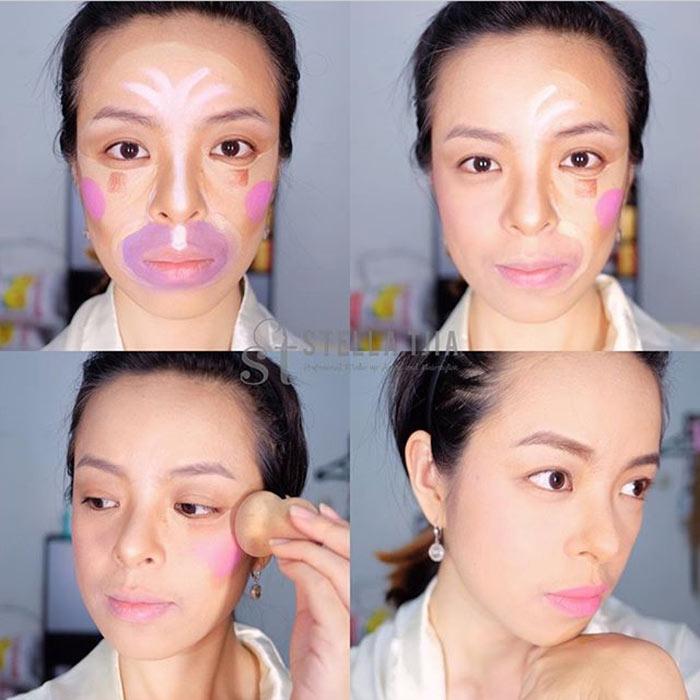 Contorno de palhaço na maquiagem