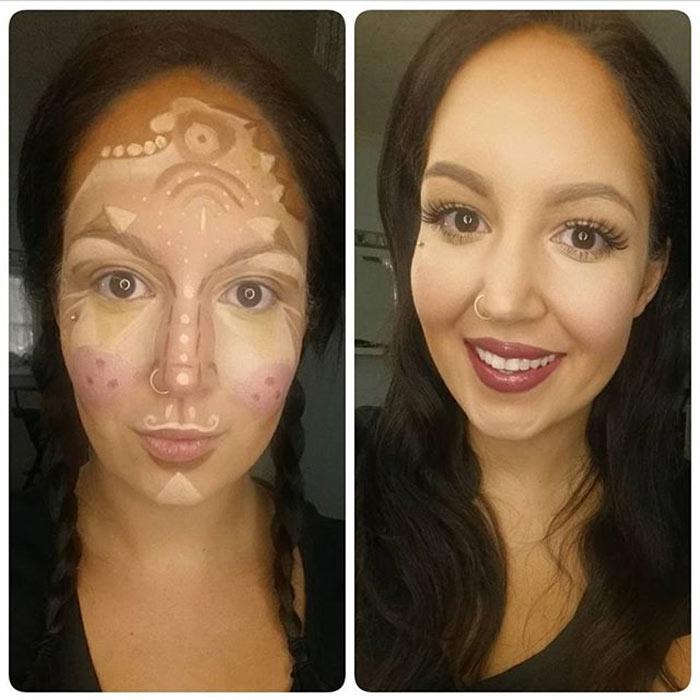 Maquiagem com Clown Contouring