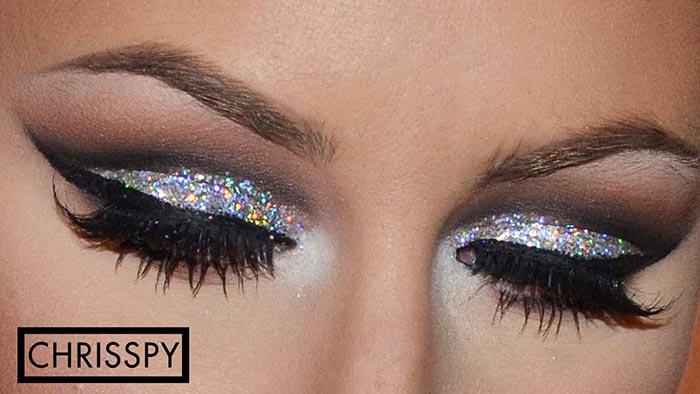Maquiagem para formatura com glitter