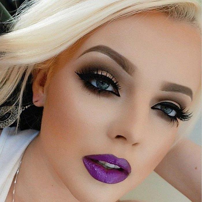 Maquiagem para festas - roxo