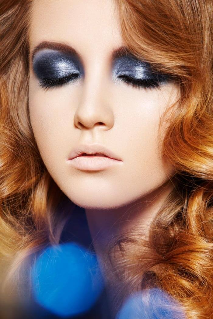 Maquiagem para formatura azul