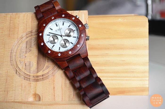 Relógio feminino de madeira - Jord watches