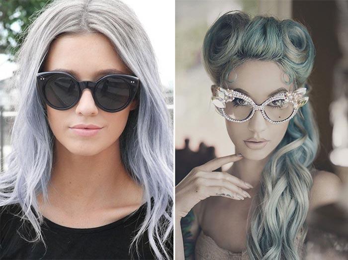 Tendência: cabelos cinza