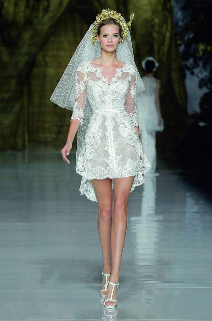 Vestido de noiva curto - Pronovias