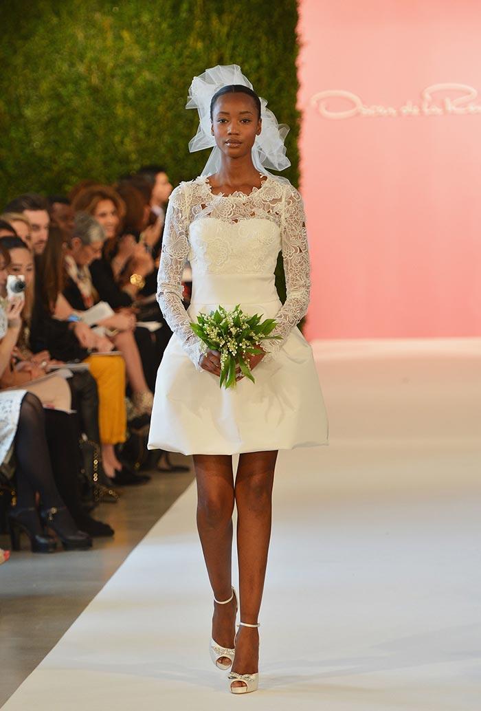 Oscar de la renta - Vestido de noiva curto