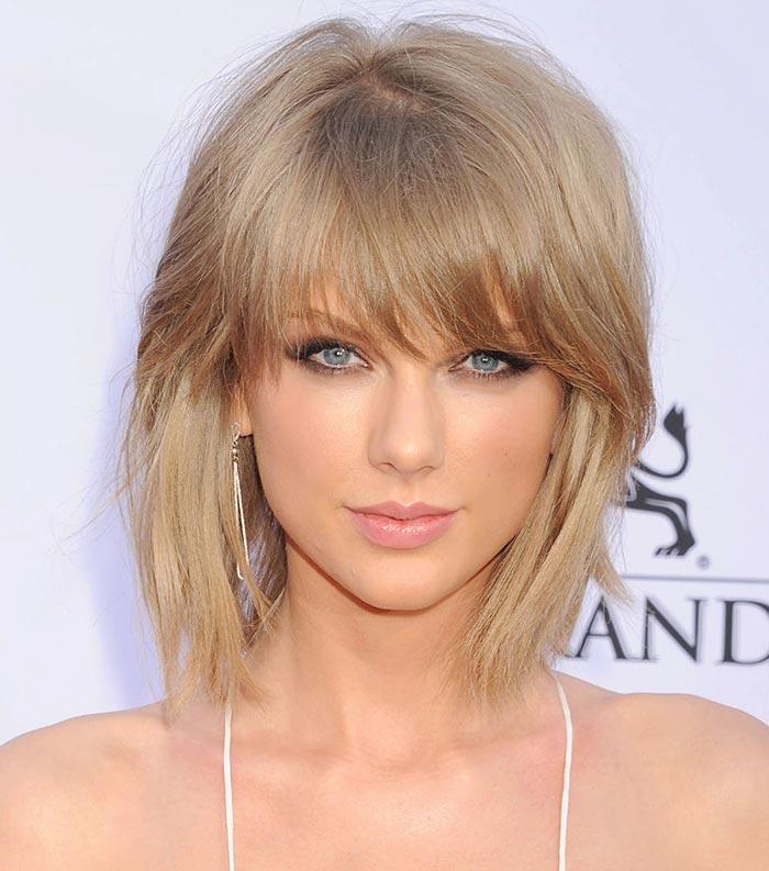 Corte curto com franja - Taylor Swift