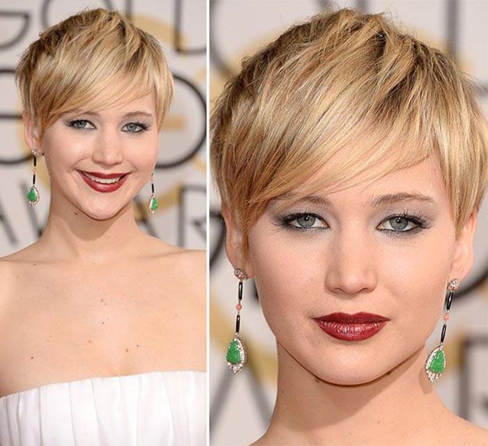 Cortes de cabelo curto - Jennifer Lawrence