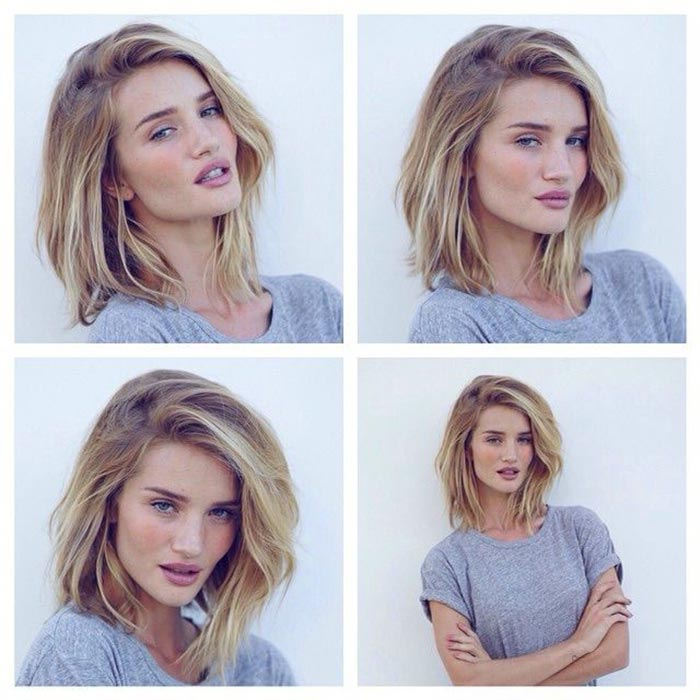 Rosie huntington-whiteley - long bob