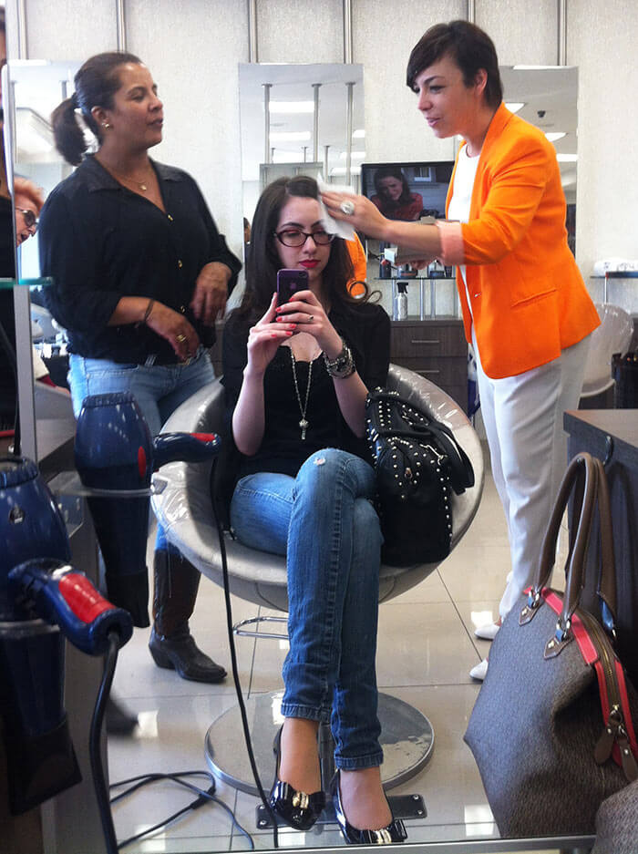 Usando o Fly-away fix da Redken
