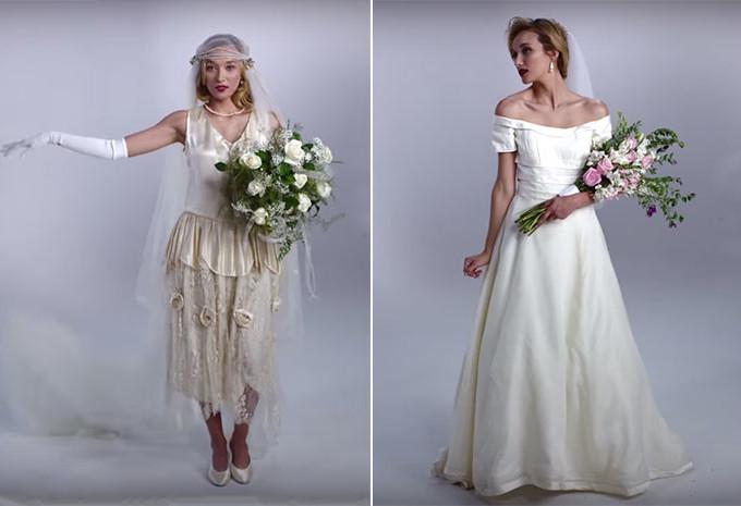 100 Anos de Vestidos de Noiva em vídeo