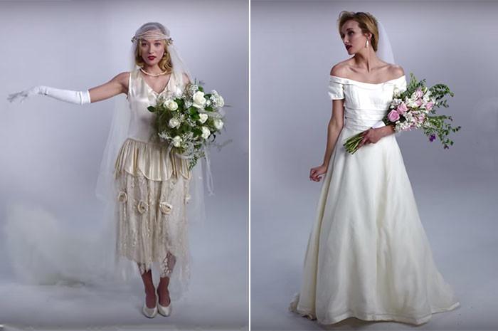 100 anos de vestidos de noiva