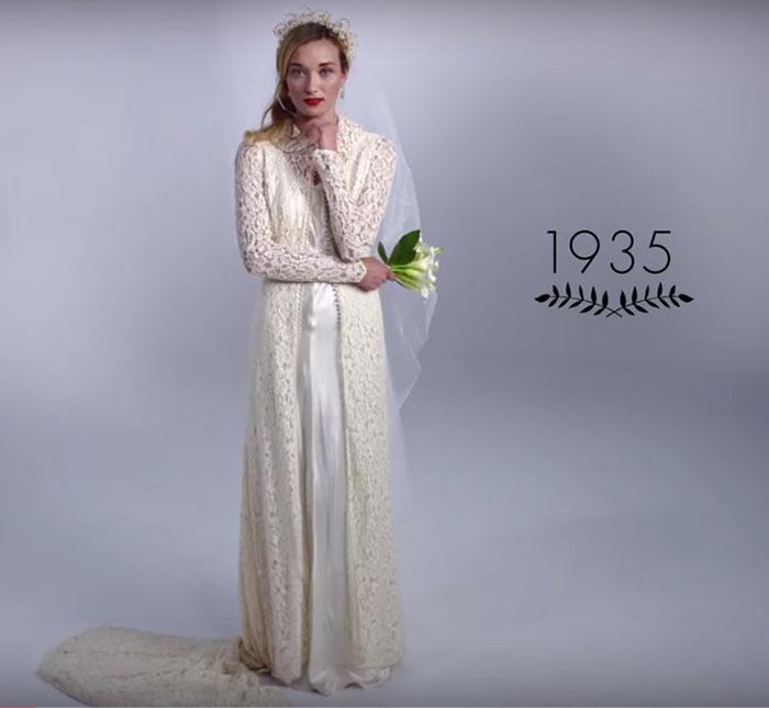 Vestido de noiva dos anos 30