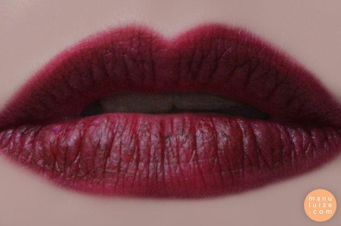 Batom vinho: Eugenie - MAC nos lábios