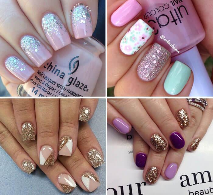 Fotos de unhas decoradas - glitter