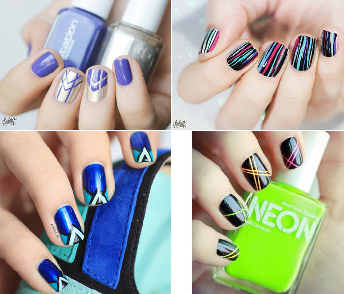 Fotos de unhas decoradas com listras