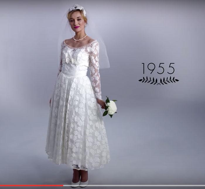 Vestido de noiva dos anos 50