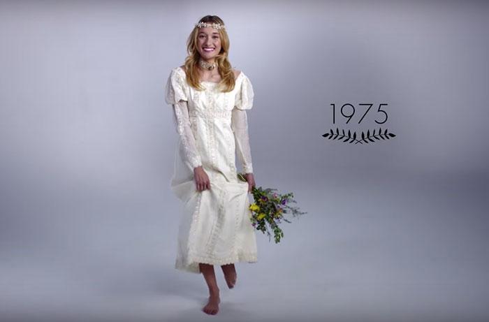 Vestido de noiva dos anos 70