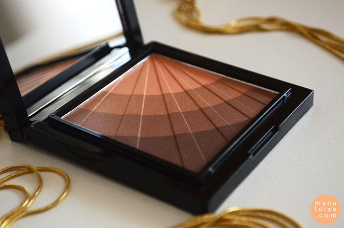 Sombras marrom e dourado Make B. Boticário
