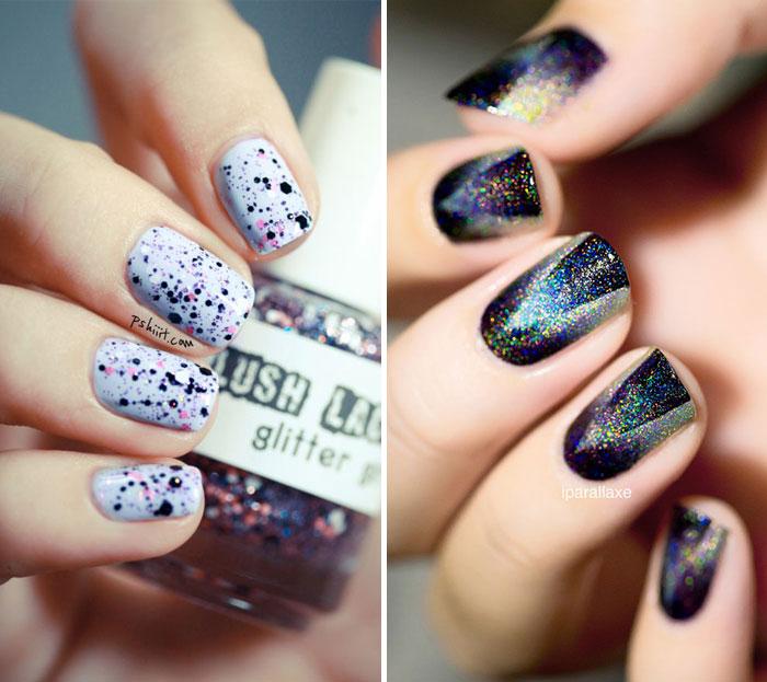 Unhas decoradas - glitter
