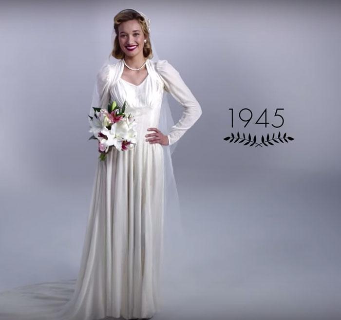 Vestido de noiva dos anos 40