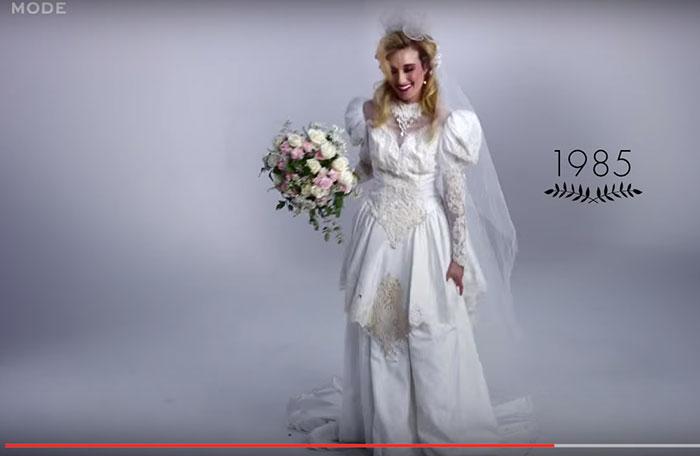 Vestido de noiva dos anos 80