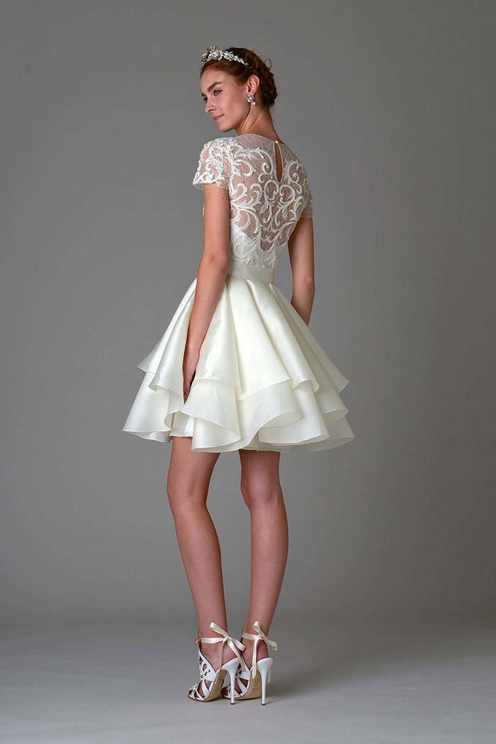 Vestido de Noiva curto - Marchesa