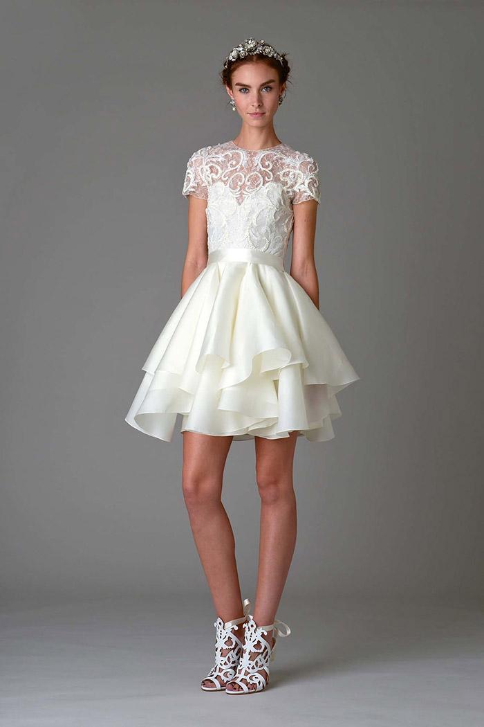 Vestido de Noiva curto - Marchesa 2016