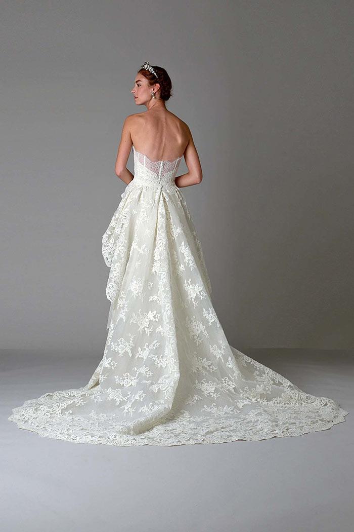 Vestido de noiva com renda - costas