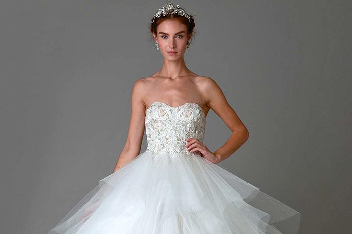 Vestido de noiva Marchesa 2016 2017