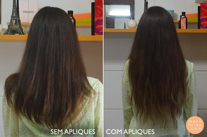 antes e depois com megahair